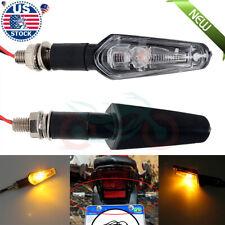 Motorcycle LED Turn Signals Light Blinker Amber Indicator Lamp 12V Universal