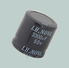 3300 uF 50 V LOT OF 2 LH.NOVA ELECTROLYTIC CAPACITORS