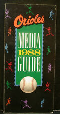 1988 Baltimore Orioles Official Media Press Guide, 208 Pages of Facts and Fun!