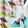 Plateau Sneaker Damen Schuhe TRANSPARENT Mehrfarbige Sport Fitness Schnürer N15