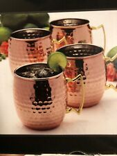 New listing Mikasa Hammered Copper Moscow Mule 16oz Mug (Set of Four)