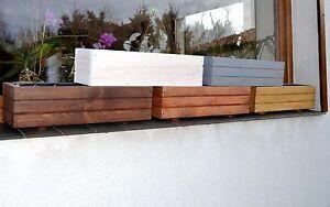 NEU Pflanzkübel Holz D6 Pflanzkasten 60 cm bzw 90 cm x 17 cm x17cm Blumenkasten