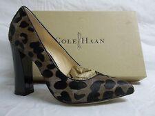 Cole Haan Size 6.5 M Chelsea Grey Leopard Haircalf PUMPS Womens Shoes