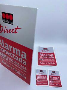 Placa de PVC  Disuasorias de Alarma Securitas Direct. Modelo 2015