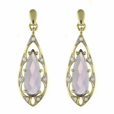Drop/Dangle Natural Amethyst Yellow Gold Fine Earrings
