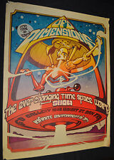UFO Dimensions Poster Space Warp Show San Fancisco Rare - (1967) ITB WH