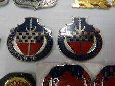 MILITARY INSIGNIA CREST DUI SET OF 2 15TH PERSONNEL SERVICES BN COMMITTED TO SER