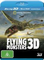 Flying Monsters 3D David Attenborough (Blu-ray, 2012) Region Free
