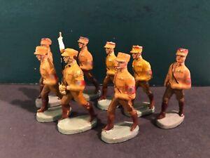 Elastolin: RARE German Soldiers, c1940. Pre War. 6.5cm Scale