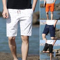 Men Breathable Short Pants Dot Printing Beach Shorts Summer Pocket Casual 2019