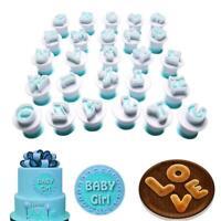 10/26pcs Alphabet Letters Number Push Cutters Fondant Cookie Tools Cake Mold Set