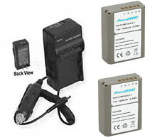 TWO 2X Batteries BLN-1 + Charger for Olympus DSLR E-P5 PEN OM-D E-M5 OM-D E-M1