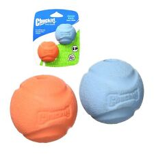 Chuckit Fetch Ball 2 Pack Durable Tough Rubber Dog Puppy Toy Fits Launcher S/M