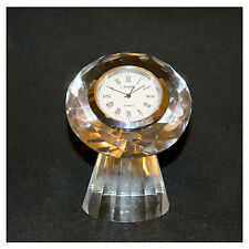 Glass, Crystal Collectable Battery Operated Clocks