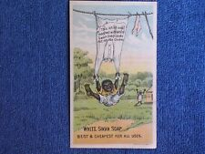 White Swan Soap-Rochester NY/Naughty Black Boy Swings from Shirt on Clothesline