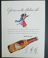 1933 White Rock mineral water get over on the alkaline side vintage ad
