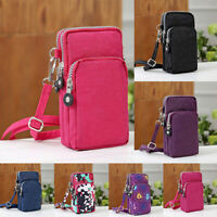 Women Cross-body Handbag Mobile Phone Shoulder Bag Pouch Case Belt Purses