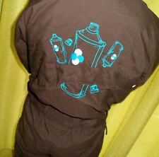 Combinaison +capuche surf/ski garçon/fille marron turquoise bombes grafitis 6ans