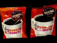 New Dunkin' Donuts Original Blend Coffee  - 2 Bags Of 2 OZ Trial Vacation Size