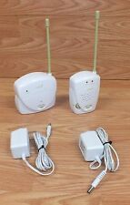 Safety 1st (0909MN) White & Green Baby Monitor With Power Supplies **READ**