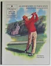 Sam Snead & Others 1991 Signed Pro-Am Classic Golf Program - JSA