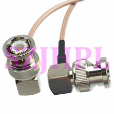 """cable BNC male plug to BNC male right angle crimp RG316 8"""" pigtail"""