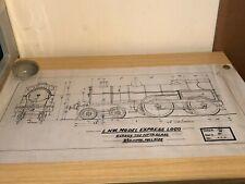 "1916 2.5"" Gauge Full Size L.N.W. Model Express Loco George Fifth Class Plan"
