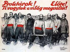 Propaganda Política Marxista comunista Proletaria Austria Antiguo Cartel 1875pylv