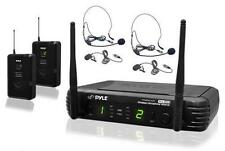 PDWM3400 UHF Wireless Microphone System W/ 2 Lavalier 2 Headset Microphones