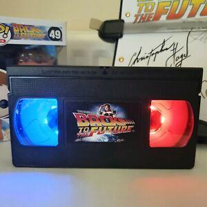 Back to the Future LED VHS Tape Lamp Birthday Gift Present Retro Light Custom