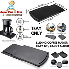 Under Countertop Appliance Sliding Coffee Maker Tray Mat Caddy Slider Black NEW  photo