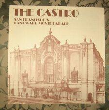 CASTRO THEATRE SAN FRANCISCO HISTORY BROCHURE Circa 1977