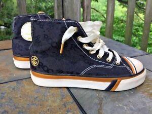 PRO KEDS Black & Gold ROCK ON Hi Tops Sneakers Shoes Boys Girls Size 2 👟2
