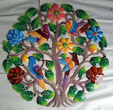 "Metal Tree of Life Sculpture Wall Art Artwork for Walls Oil Drum Paintings, 24"""