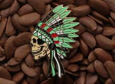 Grateful Dead Pins Native American Indian Headdress Skull Pin NO.6
