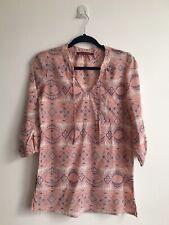 Comptoir Des Cotonniers Ladies Paisley Print Coral Tunic Summer Top Blouse 36