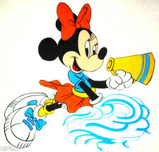 """15"""" DISNEY  MOUSE MINNIE CHEERLEADER CHARACTER WALL SAFE FABRIC DECAL CUT OUT"""