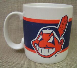 Vintage Russ Berrie Cleveland Indians Chief Wahoo MLB Baseball Coffee Mug Cup