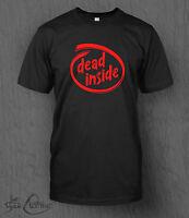 Dead Inside T-Shirt Intel Logo MEN'S Funny, Walking Dead, Zombies, Father's Day