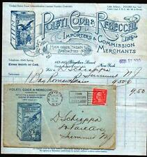1920 Poleti Coda & Rebecchi - Italian Importers - New York  Letter Head & Cover