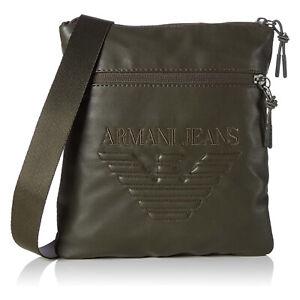 Armani Jeans Mens Big Eagle Logo Small Messenger Bag Military Green  C