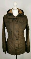 L453 Barbour Ladies Winter Force Olive Green Wax Cotton Jacket, UK 8
