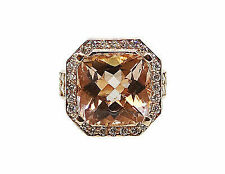 14k Rose Gold Diamond and Morganite Ring