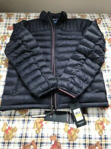 NWT Mens Tommy Hilfiger Midnight Blue Nylon Packable Quilted Down Jacket Coat M