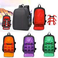 "Waterproof DSLR Camera Backpack Bag Padded w/ Rain Cover Laptop 15.6"" Lens Case"