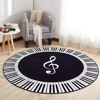 Carpet Music Symbol Piano Keys Round Carpet Anti Slip Rugs Bedroom Pads Floor