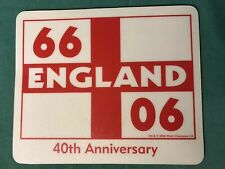 World Cup - England Football 1966 - 2006 40th Anniversary Mousemat