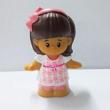 Fisher Price Little People Hispanic Girl Mia in Pink Cute figure Girl Toy