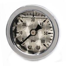 """Öldruckmanometer, -anzeige silber 60PSI - 1/8""""NPT  Harley Davidson"""