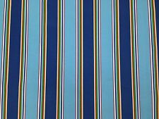 RICHLOOM BONFIRE REGATTA STRIPE BLUE OUTDOOR CUSHION MULTIUSE FABRIC BY THE YARD